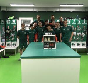 FORMBASE beim VFB Lübeck Mannschaft Kabine